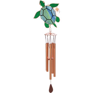 Gift Essentials Stained Glass Sea Turtle Wind Chime