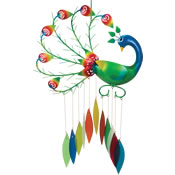 Gift Essentials Glass Pierre the Peacock Wind Chime