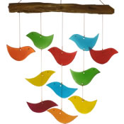 Gift Essentials Glass Bird Wind Chime