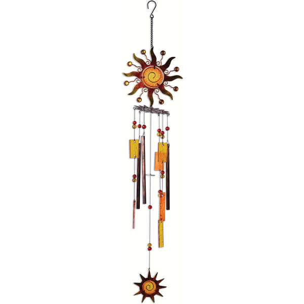 Sunset Vista 37 Inch Spiral Sun Wind Chime