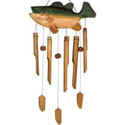 Woodstock Bass Fish Bamboo Windchime