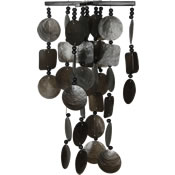 Woodstock Midnight Capiz Chime